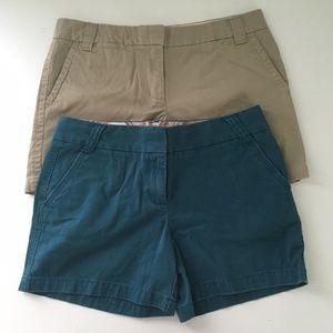 Bundle of 2 J. Crew City Fit Chino Shorts